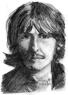 George Harrison Art Print by Daniel Scott
