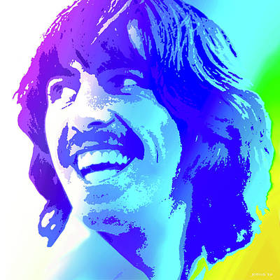Digital Art Rights Managed Images - George Harrison Royalty-Free Image by Greg Joens