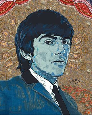 Liverpool Drawing - George Harrison by Suzanne Gee