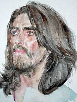 Painting - George Harrison - Watercolor Portrait by Fabrizio Cassetta