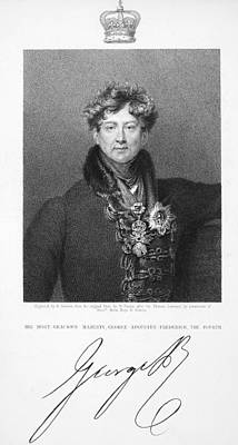 Autographed Photograph - George Iv (1762-1830) by Granger