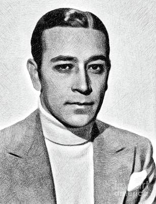 Musicians Royalty-Free and Rights-Managed Images - George Raft, Vintage Actor by JS by John Springfield