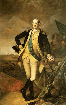 Politicians Royalty-Free and Rights-Managed Images - George Washington at Princeton by Charles Willson Peale