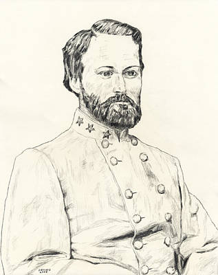 Robert E Lee Drawing - George Washington Custis Lee by Dennis Larson