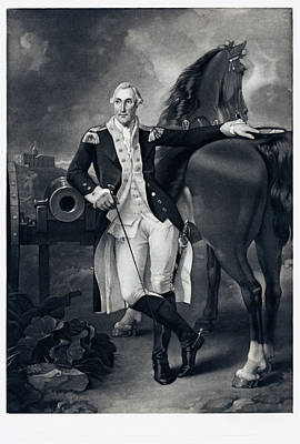 Painting - George Washington by Valentine Green after Charles Willson Peale