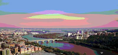 Georgetown University Art Print by Charles Shoup