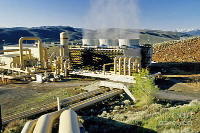 Steam Turbine Wall Art - Photograph - Geothermal Power Plant by Inga Spence