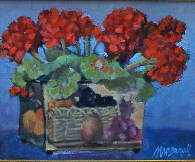Painting - Geraniums by Michael McDougall