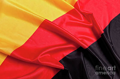 Photograph - German Flag Background by Gualtiero Boffi