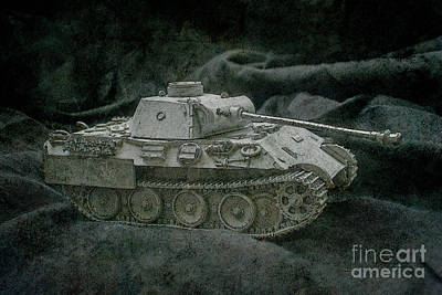 Digital Art - German Panther Tank by Randy Steele