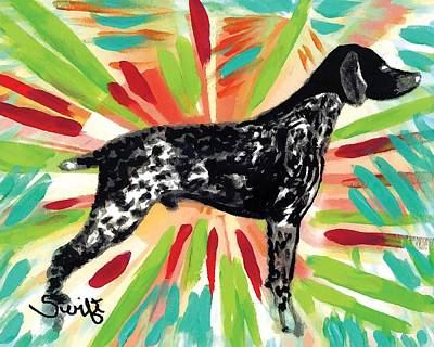 Dog Painting - German Shorthaired Pointer by Char Swift