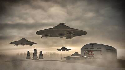 German Wwii Ufo By Raphael Terra Art Print by Raphael Terra