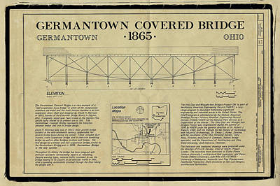 Music Royalty-Free and Rights-Managed Images - Germantown Covered Bridge by Jack R Perry