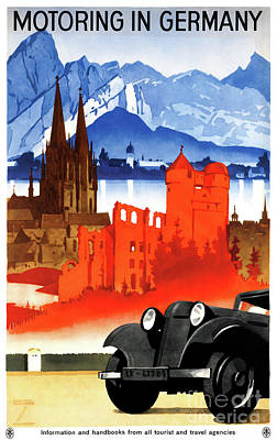 Mixed Media - Germany Vintage Travel Poster Restored by Carsten Reisinger