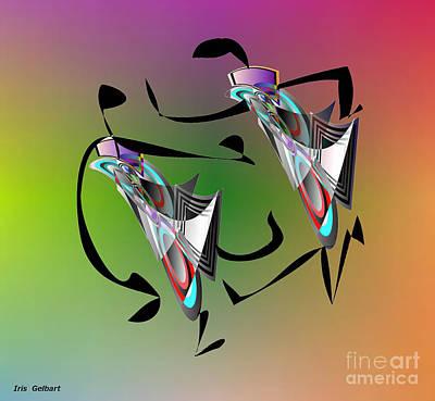 Digital Art - Get The Beat 2 by Iris Gelbart