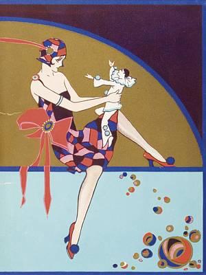 Get-together Dinner Menu. Cunard West Art Print