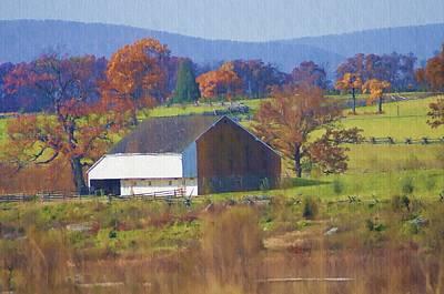 Barns Digital Art - Gettysburg Barn by Bill Cannon