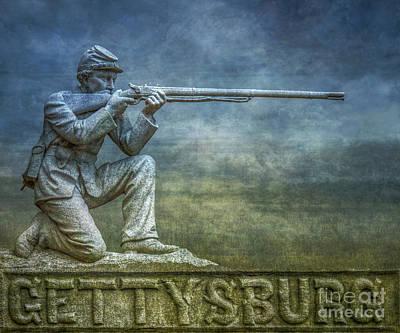 Devils Den Digital Art - Gettysburg Battlefield by Randy Steele