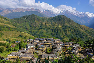 Ghandruk Village In The Annapurna Region Art Print