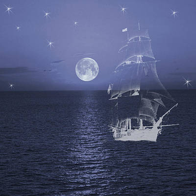Digital Art - Ghost Ship by Jacqueline Sleter