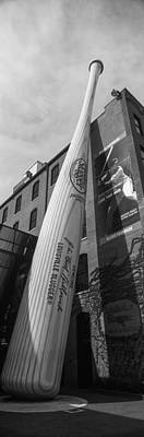 Giant Baseball Bat Adorns Art Print by Panoramic Images