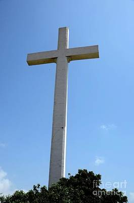 Photograph - Giant Christian Cross At Gora Qabaristan Cemetery Karachi Pakistan by Imran Ahmed