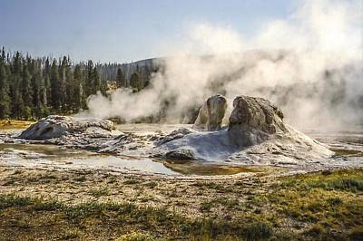Photograph - Giant Geyser Yellowstone National Park by NaturesPix