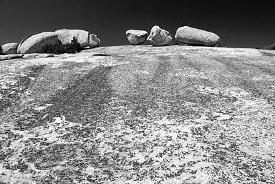 Giant Glacial Erratics On Bald Rock  Art Print