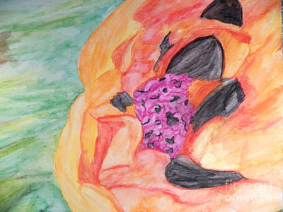 Painting - Giant Orange Poppy by Corinne Elizabeth Cowherd