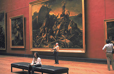 Photograph - Giant Painting At Louvre by Carl Purcell
