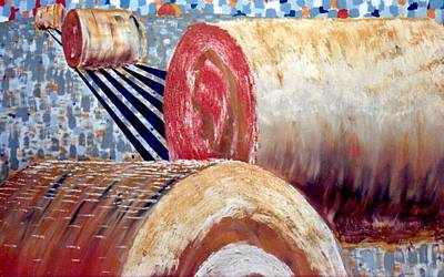 Haybale Painting - Giant Series by John Linden