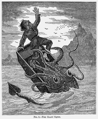 Giant Squid, 1879 Art Print by Granger