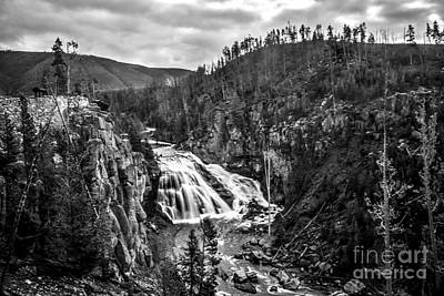 Yellowstone Park Photograph - Gibbon Falls by Robert Bales