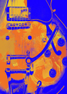 Painting - Gibson Guitar Poster by Andrea Mazzocchetti