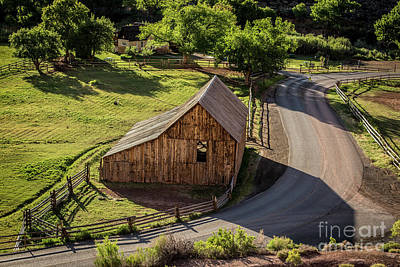 Photograph - Gifford Homestead Barn - Capitol Reef National Park by Gary Whitton