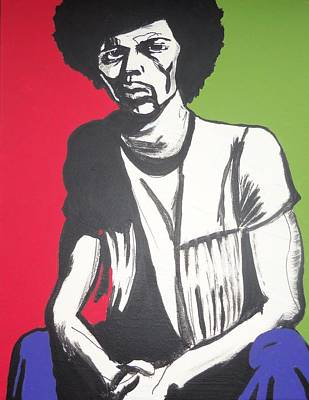 Painting - Gil Scott-heron Pieces Of A Man by Otis L Stanley