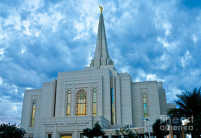 Gilbert Arizona Lds Temple Art Print