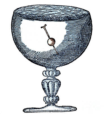 Gilberts Experiment Showing Magnetic Dip Art Print by Science Source