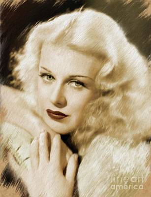 Painting - Ginger Rogers, Legend by Mary Bassett