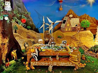 Photograph - Gingerbread Village Study 2 by Robert Meyers-Lussier