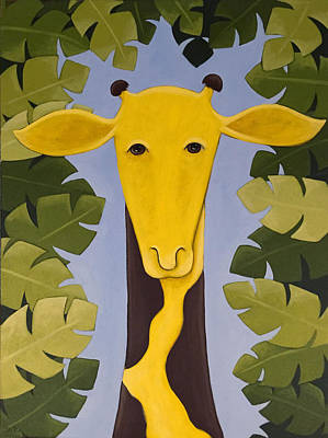 Painting - Giraffe Nursery Art by Christy Beckwith