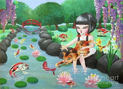 Girl Art Print by Akiko Okabe