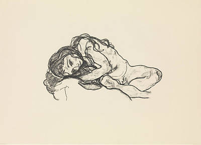 Relief - Girl by Egon Schiele