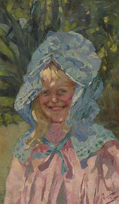 Painting - Girl In Sunbonnet by Treasury Classics Art