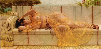 Painting - Girl In Yellow Drapery by John William Godward