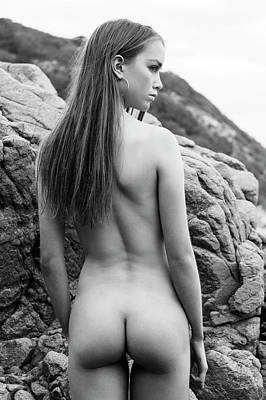 Photograph - Girl On The Rocks by Michael Maximillian Hermansen