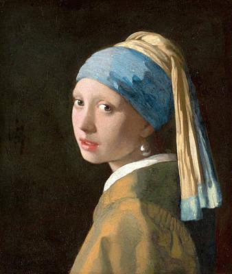 Johannes Vermeer Wall Art - Painting - Girl With A Pearl Earring by Johannes Vermeer