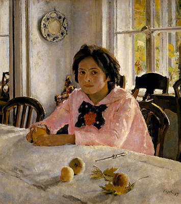 Painting - Girl With Peaches by Valentin Serov