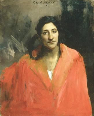 Painting - Gitana by John Singer Sargent
