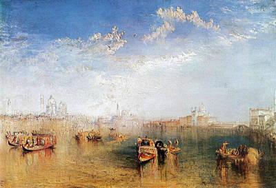 Maritime Painting - Giudecca, La Donna Della Salute And San Georgio by JMW Turner